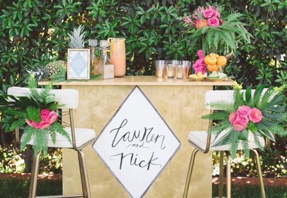 Decoreer je bruiloft in tropische sferen!
