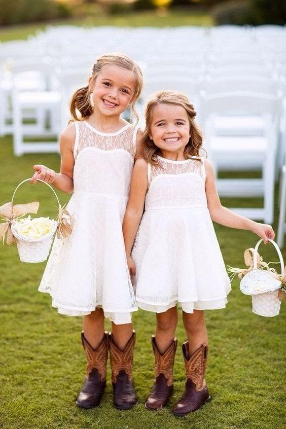 Bloemenmeisjes met cowboyschoenen!